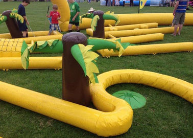 Outdoor Mobile Crazy Inflatable Golf Course Apply To Family Event dostawca