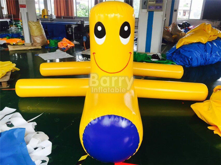 Hermetyczne Samll Yellow Inflatable Water Floats / Blow Up Water Toys dostawca