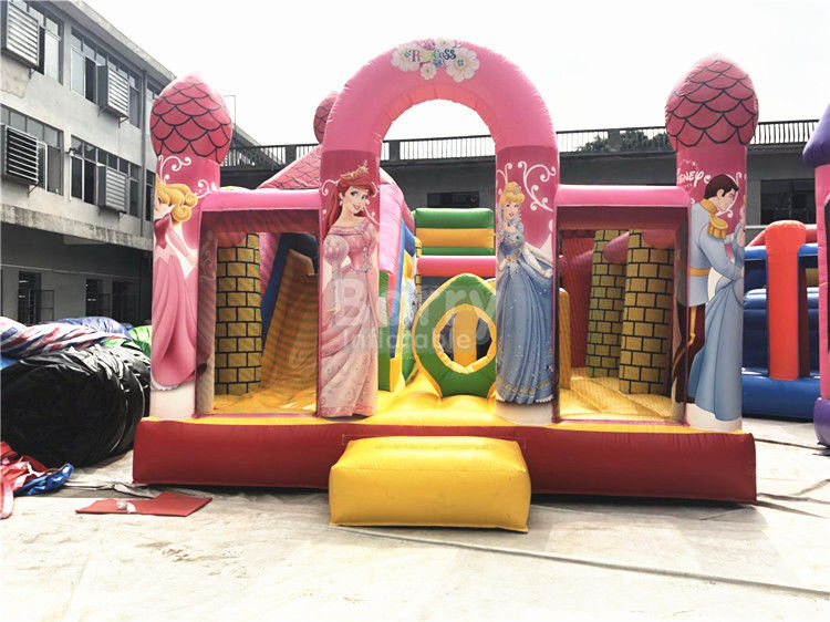 Big Pink Princess Inflatable Bouncer, Professional Commercial Bounce House