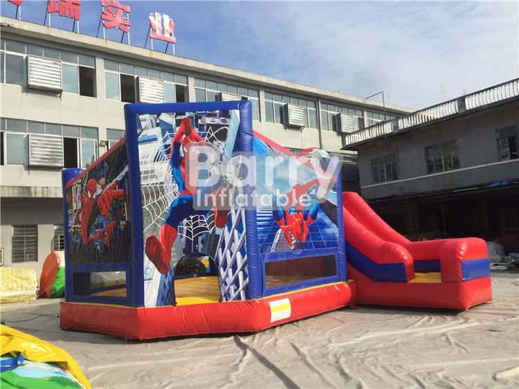 Dostosowany rozmiar Spiderman Inflatable Combo Jumping Castle With Slide For Zoo Park