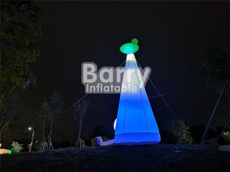 Park rozrywki Custom Made Inflatable Giraffe Lighthouse For Party Decoration dostawca