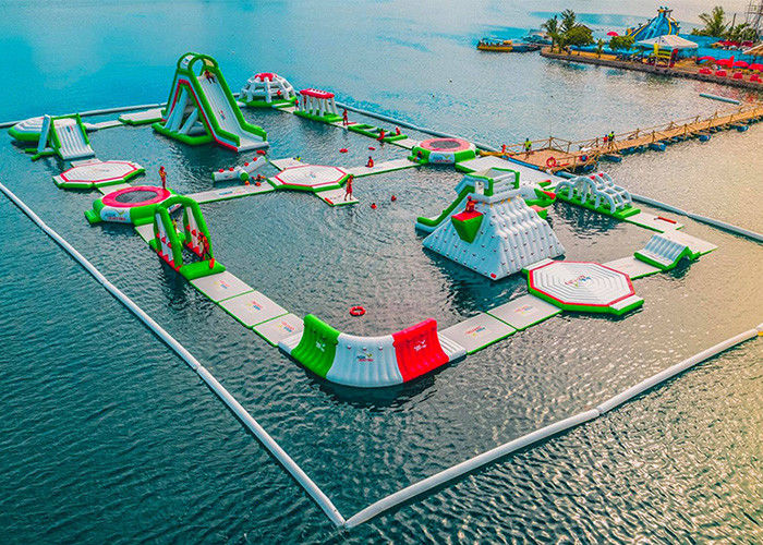 Seaside Resort Inflatable Water Park, Sea Floating Water Park z 2-letnią gwarancją