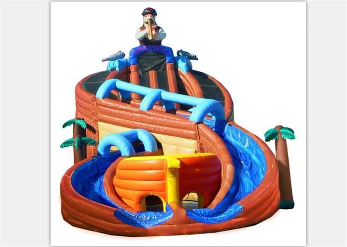 Chiny Excitin Clown Inflatable Curved Water Slide z ognioodporną plandeką z PVC fabryka