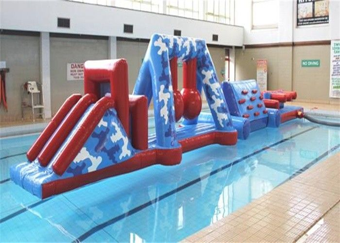 Funny Kids Sports Inflatable Water Obstacle Course With Safety Plandeka PCV